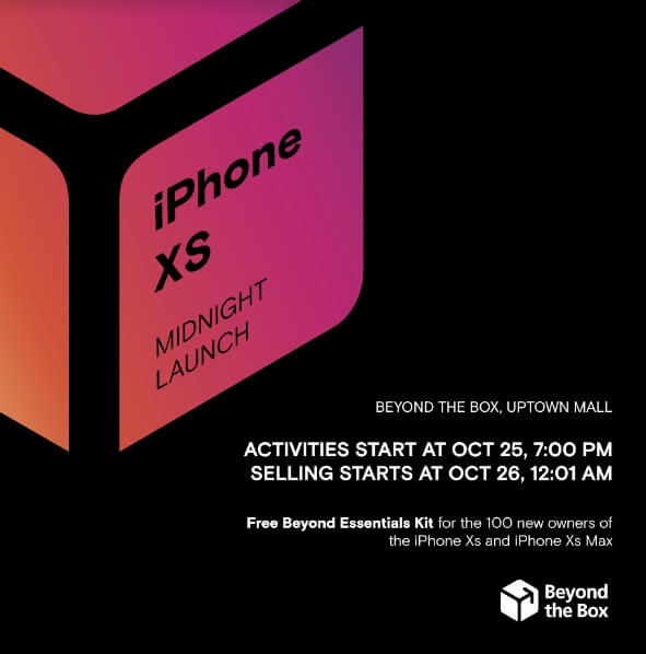 Beyond the Box's iPhone XS Midnight Launch