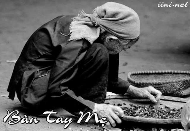thơ lục bát viết về bàn tay Mẹ già vất vã