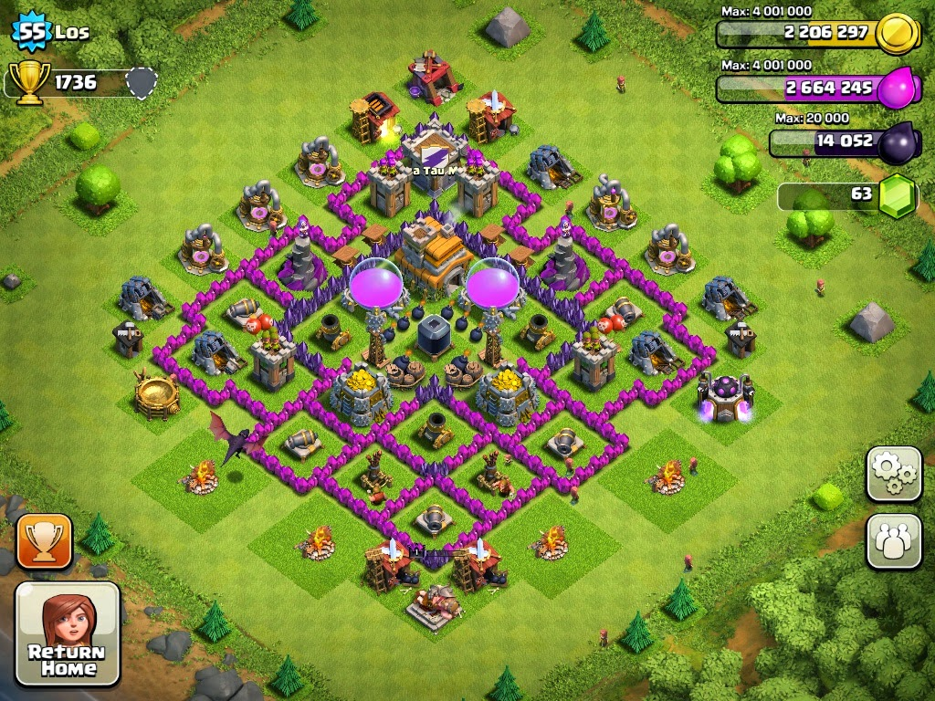 Clash Of Clans Base Pertahanan Terbaik Town Hall Level 7 Clash