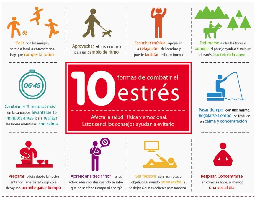 10 formas de combatir el estrés (infografía) | Cosas raras ...