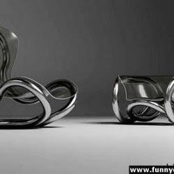 Diseño de sillón único futurista