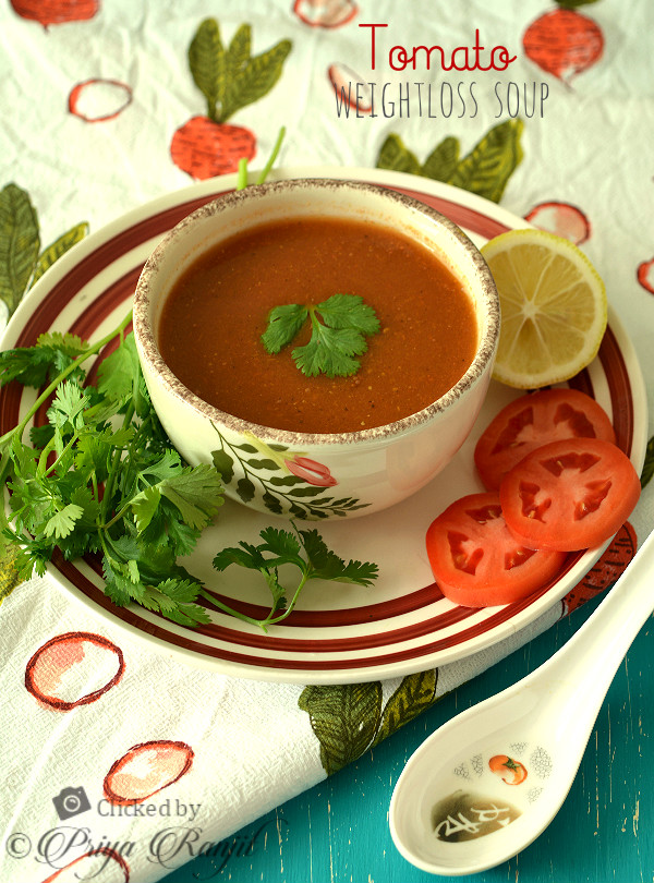 Weightloss Indian diet Recipe - Tomato Soup