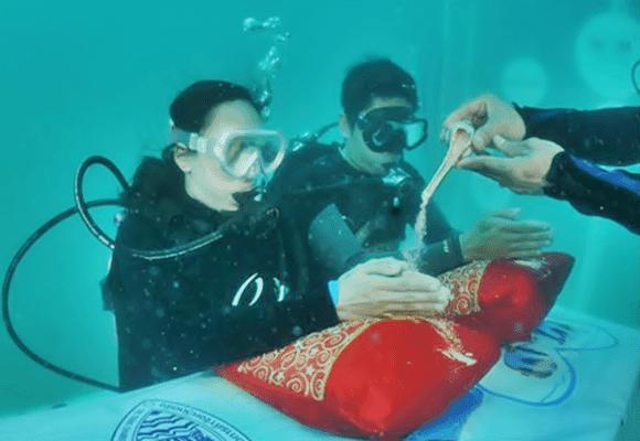 Casar-fundo-mar