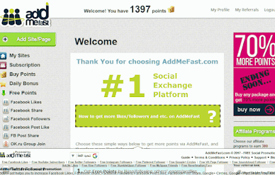شرح موقع addmefast لجلب الترافيك