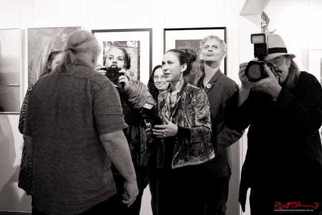 Press facing  ‎Edmond Thommen at‎ BLENDEDnudes at M2 Gallery Photo by Kent Johnson for Street Fashion Sydney.