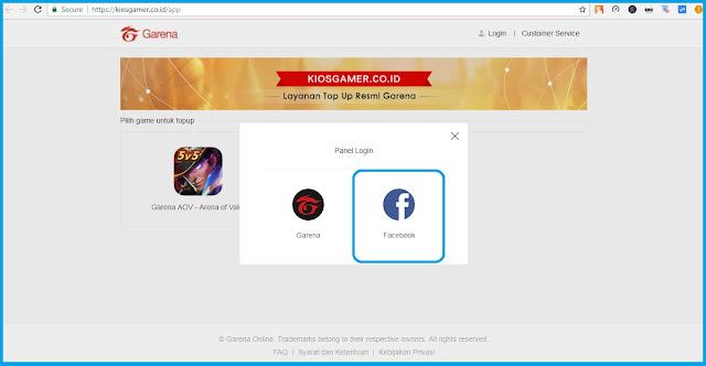 Cara Top Up Voucher Garena AOV untuk Akun Facebook Tutorial Top Up Voucher Garena AOV dengan Akun Facebook