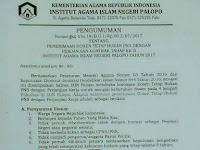 Lowongan Dosen Institut Agama Islam Negeri Palopo (IAIN Palopo) 2017