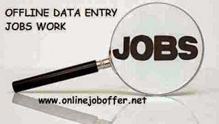 offline data entry jobs from home