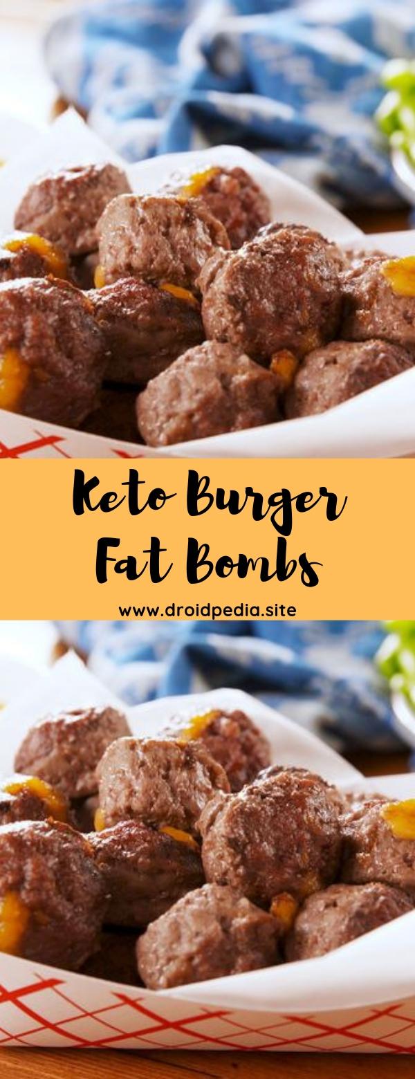 Keto Burger Fat Bombs #cheeseburger #keto