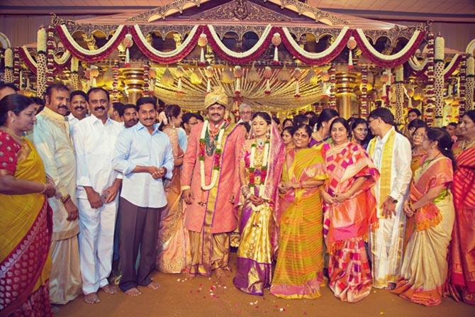 Kalvakuntla Chandrasekara Rao, Manoj Manchu and Pranathi Reddy Wedding Pics