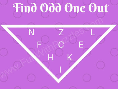 Odd Letter Out hard picture puzzle