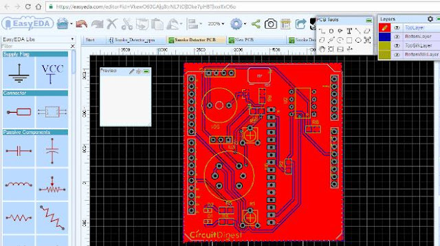 Detector de humo con Arduino PCB gratis.