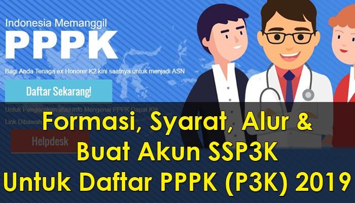 Formasi, Syarat dan Buat Akun SSP3K Untuk Daftar PPPK (P3K) 2019