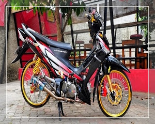 modifikasi supra x 125 full chrome modifikasi supra x 125 drag