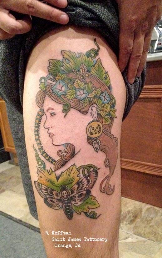 Art Nouveau Tattoo Design By Tegan Ray: Tattooz Designs: Art Nouveau Tattoos For Women