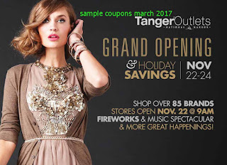 free Tanger Outlet coupons march 2017