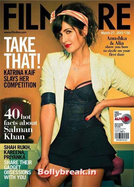 Katrina Kaif on Filmfare cover, The Hottest cover girls of 2013