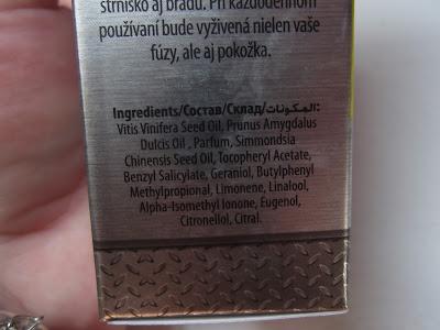 olej na bradu - dermacol, zloženie