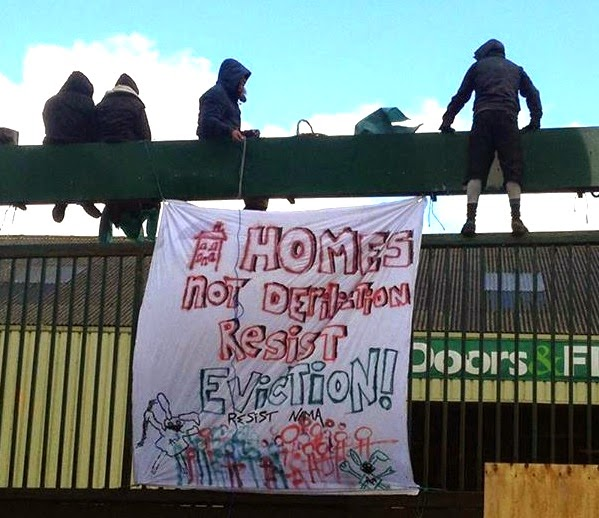 squat dublin irlande ireland eviction