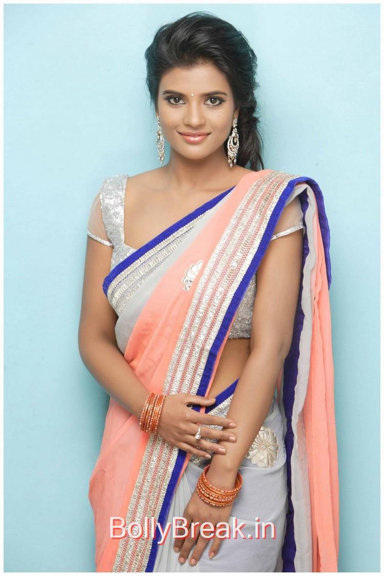 Actress Iyshwarya Rajesh Saree Hot Hd Pics From Latest Photoshoot Kajol