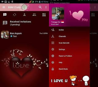BBM MOD Love Spesial Valentine