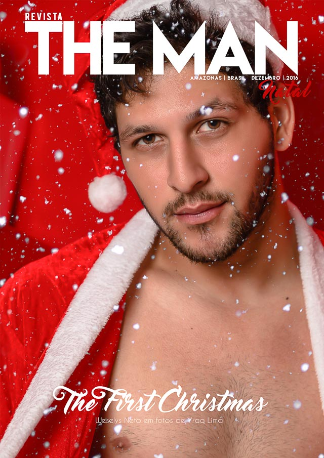Weselys Neto posa para ensaio sensual vestido de Papai Noel. Foto: Yraq Lima