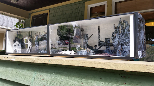 Photo of diorama in Hartigan exhibition Coaltown
