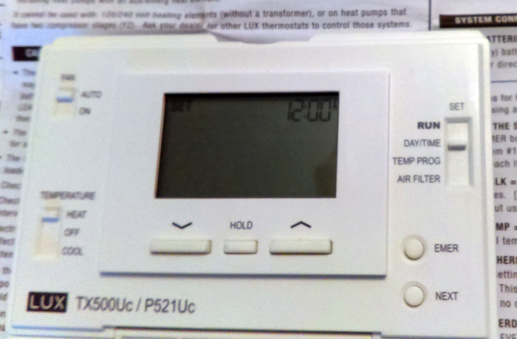 How to Fix Low Battery Warning Message - Lux Thermostat TX500Uc