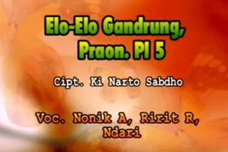 Lirik Lagu Elo Elo Gandrung