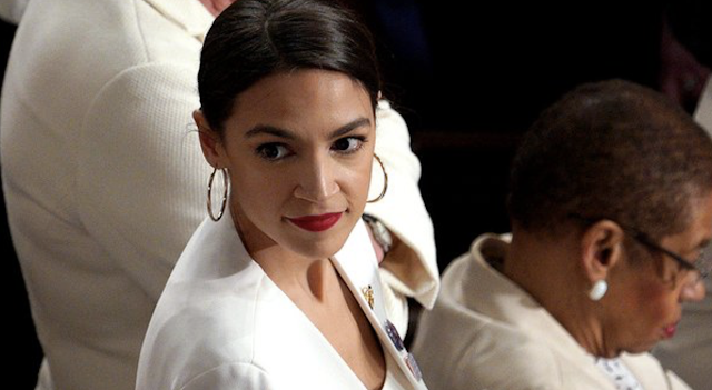 PLAYING THE WOMAN CARD, OCASIO-CORTEZ SAYS SHE IS AS POWERFUL AS A MAN AND THAT'S WHAT DRIVES PEOPLE CRAZY/NOT THE FACT THAT SHE IS AN IDIOTIC SOCIALIST