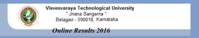 VTU Dec 2015 - Jan 2016 Results BE, BTech, MBA, MCA Result Online
