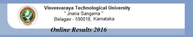 VTU Dec 2015 - Jan 2016 Results BE, BTech, MBA, MCA Result Online