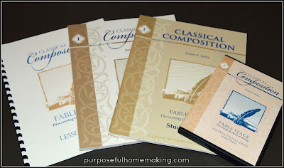 http://www.memoriapress.com/curriculum/writing-and-english-grammar/classical-composition-i-fable-stage