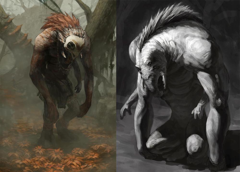 Boceto de una criatura.