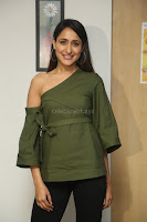 Pragya Jaiswal in a single Sleeves Off Shoulder Green Top Black Leggings promoting JJN Movie at Radio City 10.08.2017 068.JPG