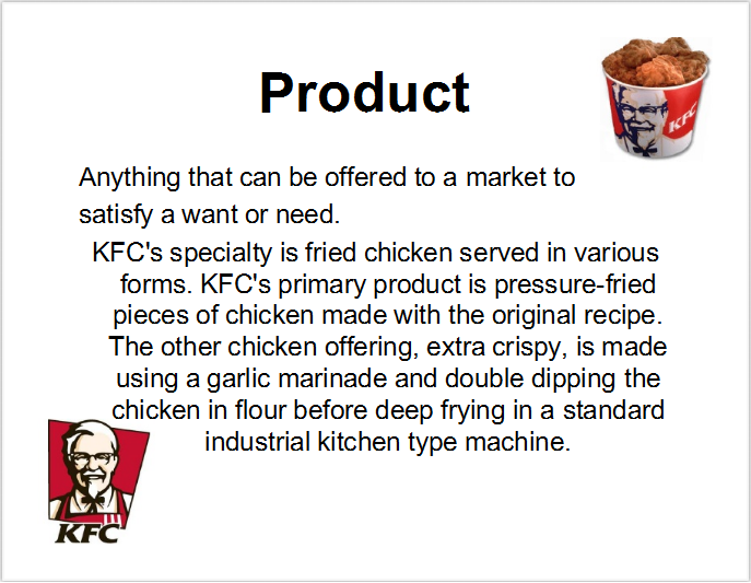 KFC Marketing Mix (4Ps) Strategy