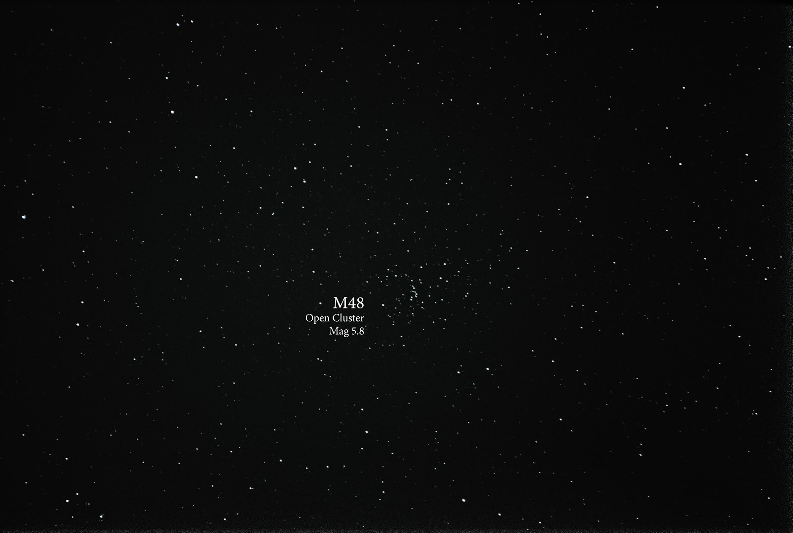 open cluster M48 with canon t5i