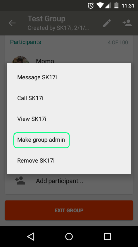Make group admin