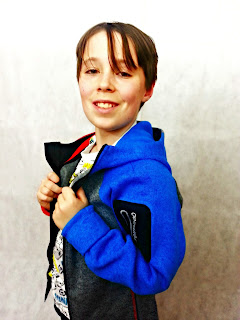 Boy modelling ReimaGO fleece jacket