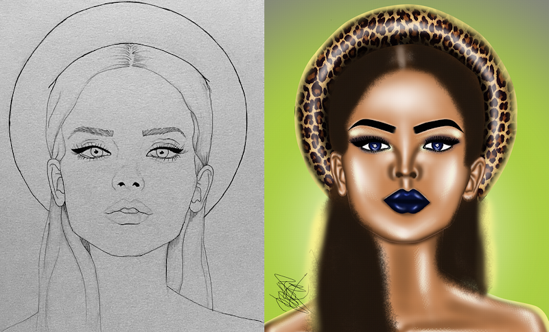 """WEEKLY TUTORIAL - DIGITAL MAKEUP ILLUSTRATION """"Learn How To Draw Face Digitally"""""""