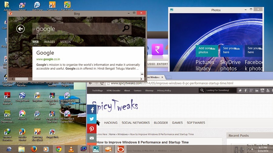 Run Windows 8 Metro Apps on Desktop ModeLike Other Windows Softwares