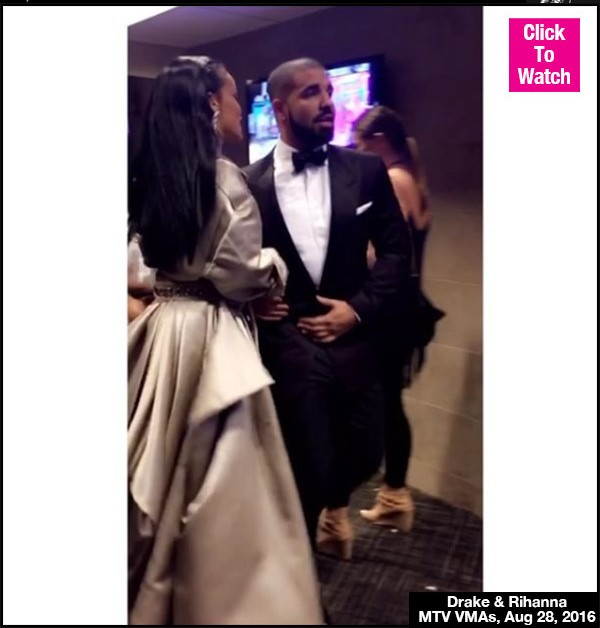 Drake Trips Over Rihanna's Dress Backstage After Sweet VMAs PDA