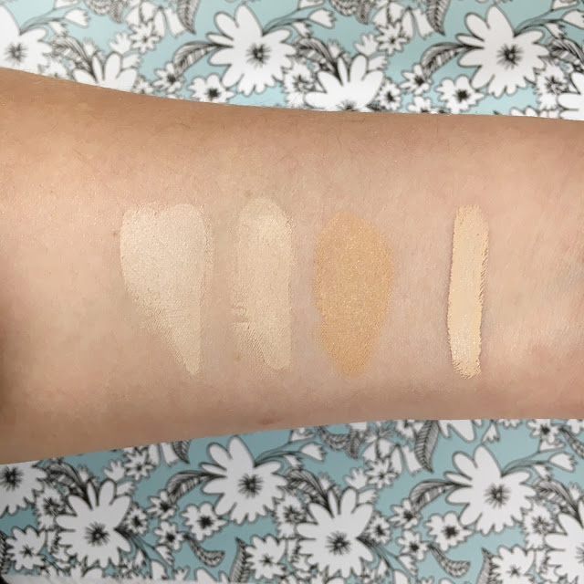 Wet n Wild Photo Focus Foundation Swatches