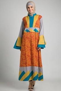 Gamis Batik Bahan Sifon