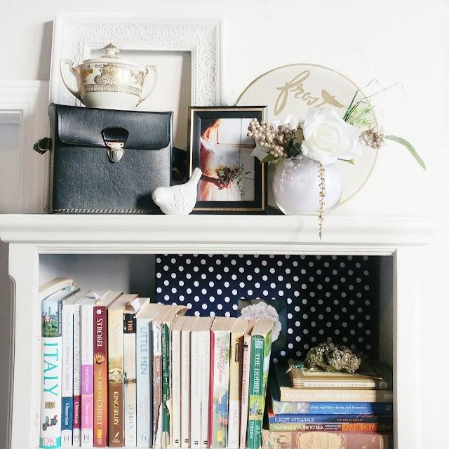 How I Styled My Bookshelves