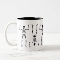 Silly Skeletons mug by Mindful Humanism