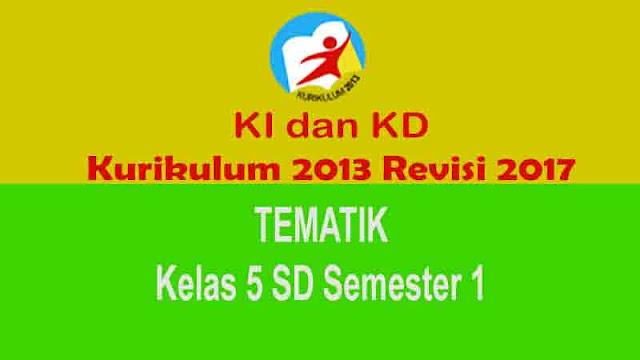 KI dan KD Tematik Kls 5 SD Semester 1 Kurikulum 2013 Revisi 2017
