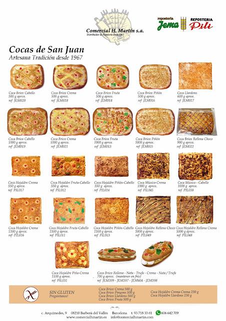 Cocas de San Juan - Coques de Sant Joan - Comercial H. Martin