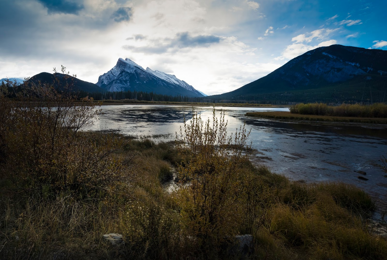 Mt. Rundle and Sulphur Mountain by Vermillion Lakes
