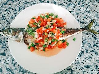receta de caballa asada andaluza, gaditana